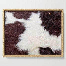 Cowhide Fur Serving Tray