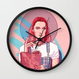 Lady Bird Pink Wall Clock
