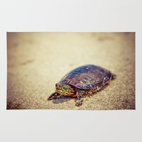 turtle Area & Throw Rugs featuring Turtle by Jo Bekah Photography
