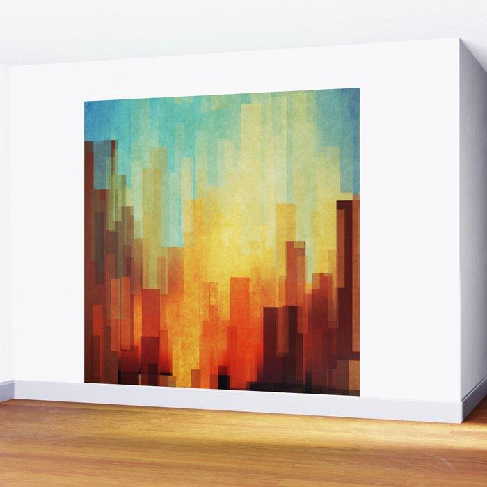 Urban sunset Wall Mural
