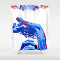abyss Shower Curtains featuring ABYSS by Lola Montiel