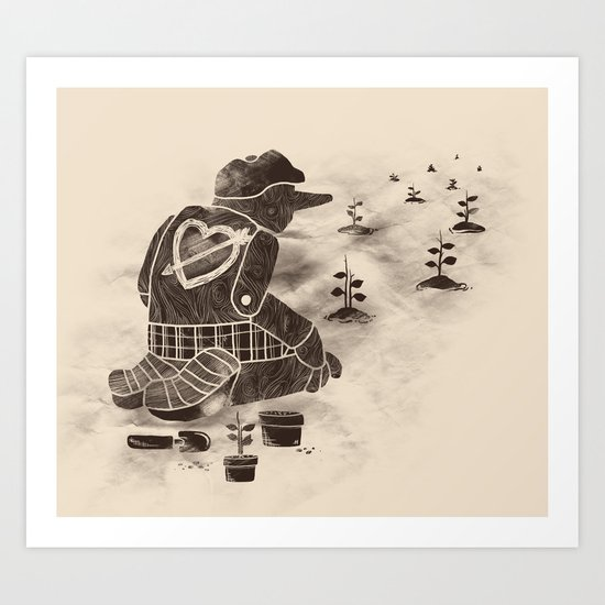 Giving Back Art Print