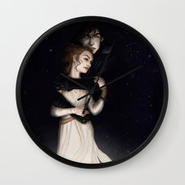 There is no light without darkness Wall Clock