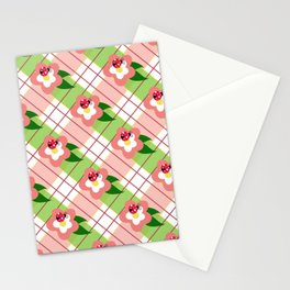 FLORAL PLAID Stationery Cards
