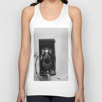 vintage camera Tank Tops featuring Vintage Camera by KimberosePhotography