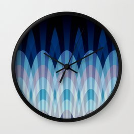 Sea blue and soft pink waves Wall Clock