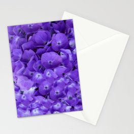 Amethyst  Hydrangea Flowers Garden Art Stationery Cards