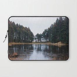 Tree Lined Lake Photography Print Laptop Sleeve