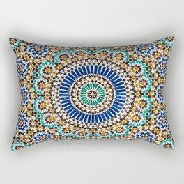 blue & gold moroccan tile Rectangular Pillow