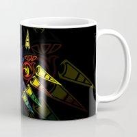 majora Mugs featuring MAJORA MASK majora mask by Veylow