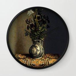 "Hans Memling ""Flowers in a Jug"" Wall Clock"