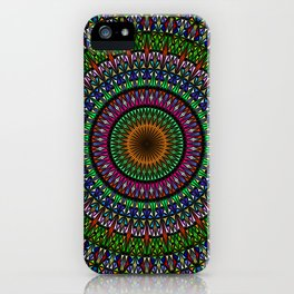 Hypnotic Church Window Mandala iPhone Case