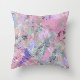 Pink Blush Abstract Throw Pillow