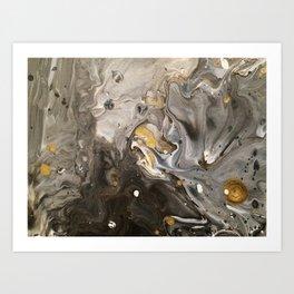 Acrylic pour #1 Art Print