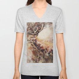 Deer Portrait Unisex V-Neck