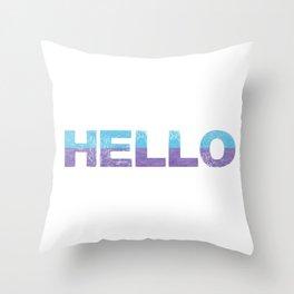 Bold Typography Design Hello Throw Pillow