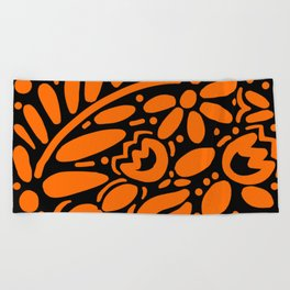 Beautiful Orange Otomi Beach Towel