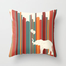Elephants Play Throw Pillow