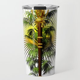growing power, royal scepter with palm tree in front of aureole Travel Mug