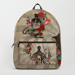 Retro Apothecary Skull Backpack