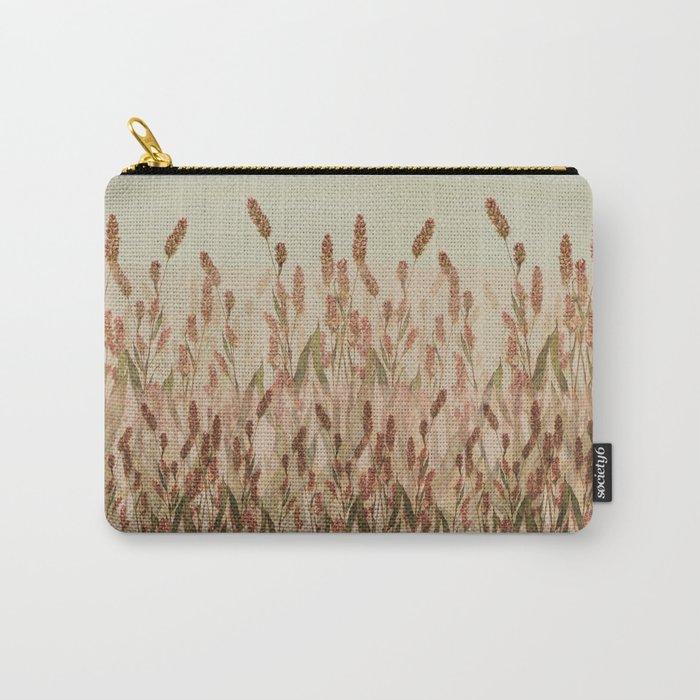 vegetal motif Carry-All Pouch