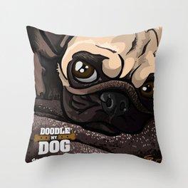 Miss Finn (Baby Pug) Throw Pillow