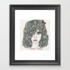 Snow White ♡ Framed Art Print