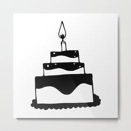 Monochrome birthday cake Metal Print