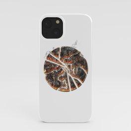 Magma Emblem on white iPhone Case