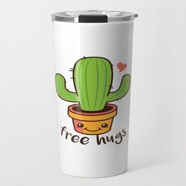 Free Hugs Cactus Travel Mug