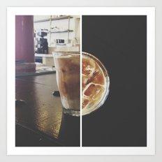 ice+coffee // instagram // Art Print