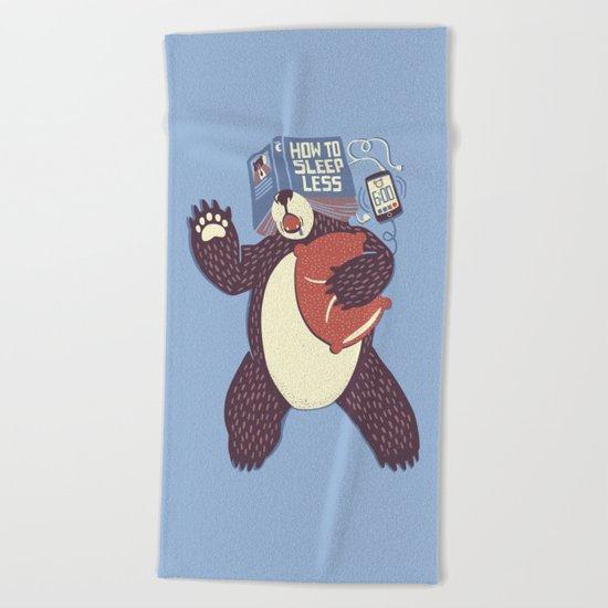 How To Sleep Less Book Beach Towel