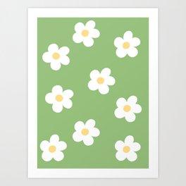 Retro 60's Flower Power Print Art Print