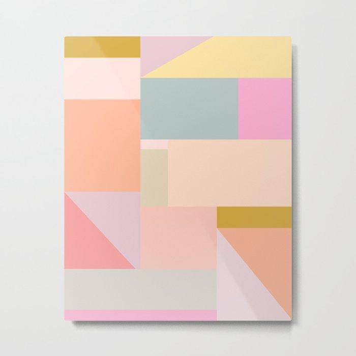 Pastel Geometric Graphic Design Metal Print