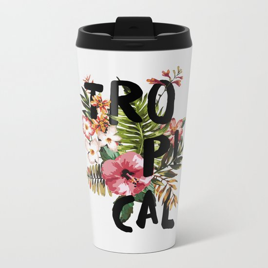 Tropical I Metal Travel Mug