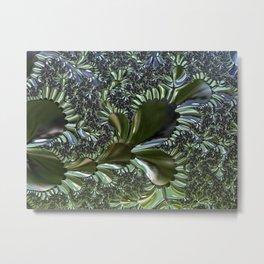 Sea Flora Fractal Metal Print