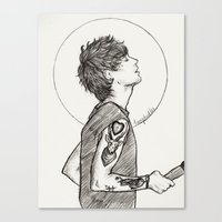 louis Canvas Prints featuring Louis by harrydoodles