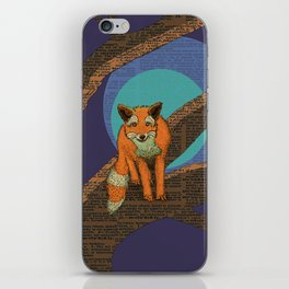 Fox at night iPhone Skin