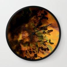 Earth Tones Flower Love Wall Clock