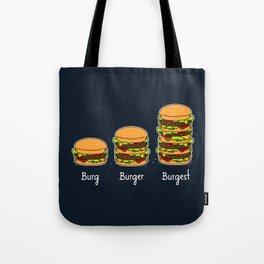 Burger explained 2. Burg. Burger. Burgest. Tote Bag
