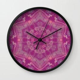 Cherry Mandala Wall Clock