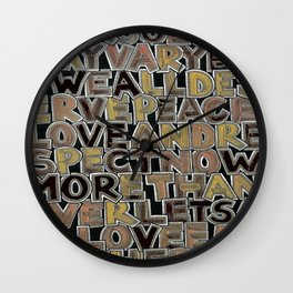 Our Colors May Vary Wall Clock