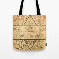 tatoo Tote Bags featuring • old tatoo comix • by Jprojectlab