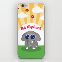 lsd iPhone & iPod Skins featuring LSD Elephant by flydesign