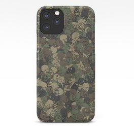 Skull camouflage iPhone Case