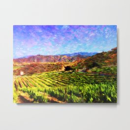 Vineyard View - Help Fund Education for Impoverished Kids in Malawi, Africa @MoreThanAid Metal Print