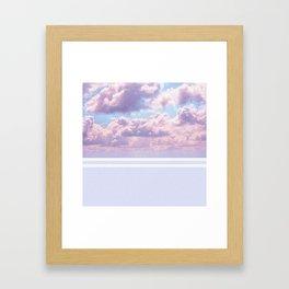 Dreamy Pastel Sky on Violet Framed Art Print