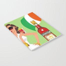 1970 Campari Vintage Cordial Italian Riviera Amalfi Coast Aperitif Advertisement Poster Notebook
