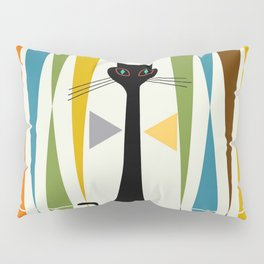 Mid-Century Modern Art Cat 2 Pillow Sham