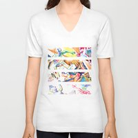 labyrinth V-neck T-shirts featuring LABYRINTH by Don Giancarli